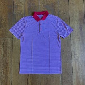 Nike Dry-Fit Victory SS Men Golf Shirt Red Multi